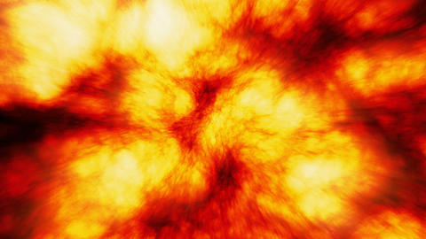 Sun Surface, Slow Motion Massive Fireball Explosions Seamless Loop stock footage