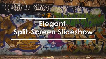 Elegant Spleet Screen Slideshow stock footage