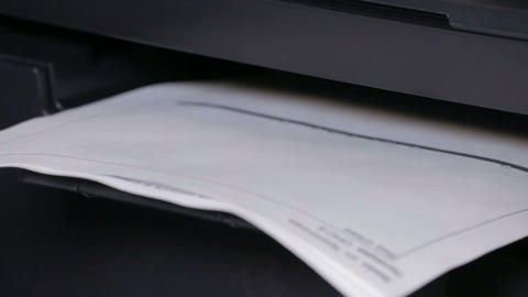 Printer In Action. Printing Papers stock footage