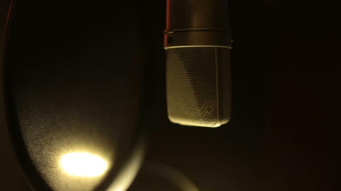 Professional Studio Microphone Footage