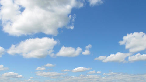 White Clouds Motion In Blue Sky Time Lapse stock footage