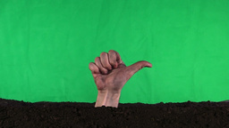 Emerging Zombie Hand Hitch Hiker (Green Screen) stock footage