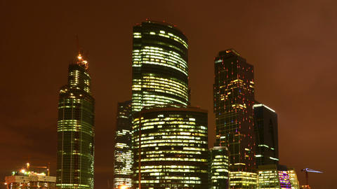 Moscow City stock footage