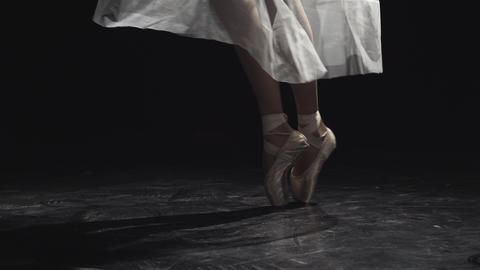 Feet Of A Ballerina Dancing stock footage