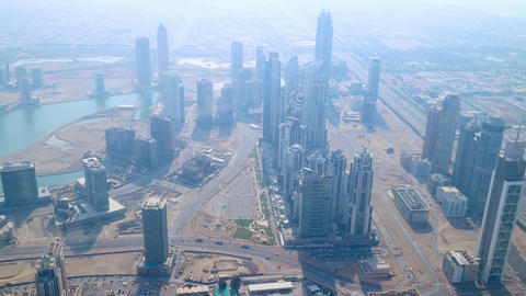 Highest View 4k Time Lapse On Sunny Dubai stock footage