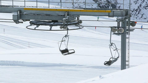Empty ski lift Footage