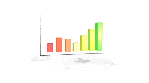Bussiness Report Graph Background stock footage