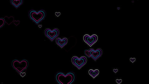 Wedding Hearts 4K 01 Vj Loop Animation