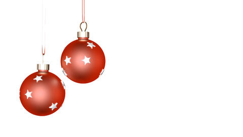 Xmas Ornaments Loop stock footage