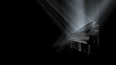 Piano On Stage Loop (HD) stock footage