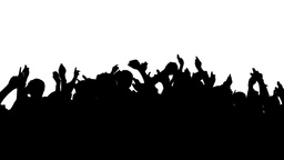Crowd Silhouette, HD stock footage