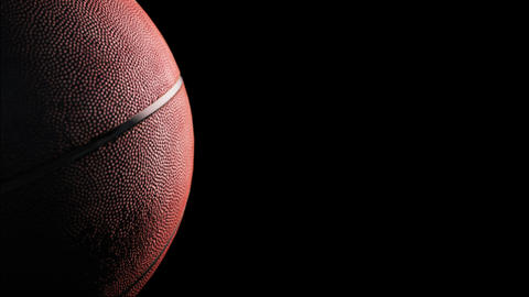Basketball, Rotation on black background, loop Animation