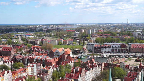 Gdansk, Poland. View From Above stock footage