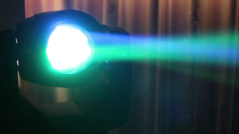 Multicolored disco reflector that glows at a birthday party 17 Footage