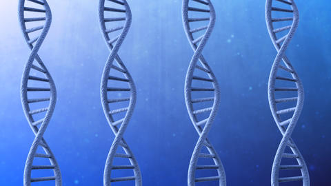 Rotating DNA stock footage