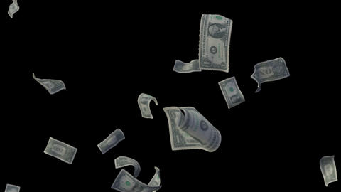 Raining Dollar Bills (With Depth Of Field) stock footage