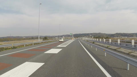 Kisarazu East Exit, One Of The Most Popular Highway Exits For Golfers Heading To stock footage
