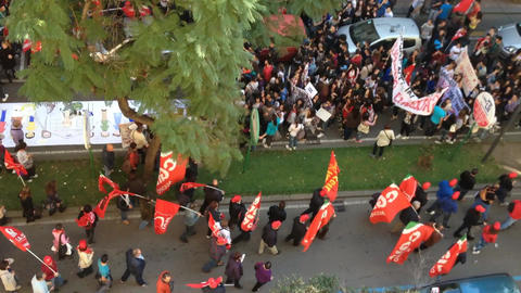 Protest Of The Workers stock footage