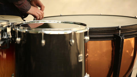 Drum Training stock footage
