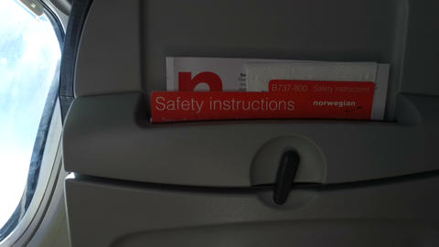Airplane Safety Instructions Footage
