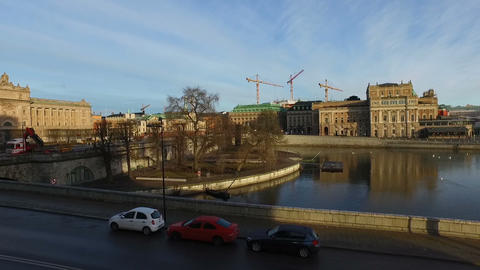 Parliament House,The Old Town In Stockholm Footage