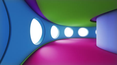 3D Loopable Animation Of A Colorful Tunnel. Ideal For Background stock footage