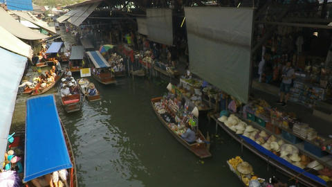 Damnoen Saduak Floating Market stock footage