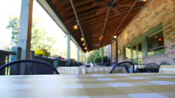 Empty Restaurant Patio 3604 stock footage