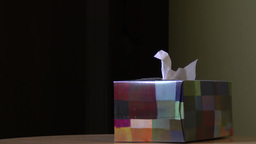 Tissue Box Close Up 3865 stock footage