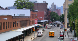 4K Meat Packing District Establishing Shot Footage