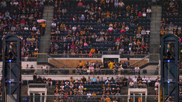 4K PNC Park Sports Fans Cheering And Clapping stock footage