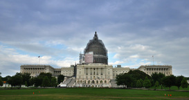 Timelapse View US Capitol Building Footage