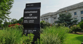 Department Of Agriculture Building Establishing Shot stock footage