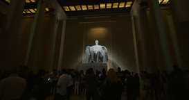 Interior Lincoln Memorial at Night Footage