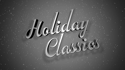 Old Fashioned Holiday Classic Title Page stock footage