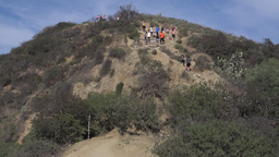Hikers and Walkers Enjoying Runyon Canyon State Park Footage