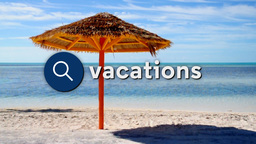 Searching For Tropical Vacations stock footage