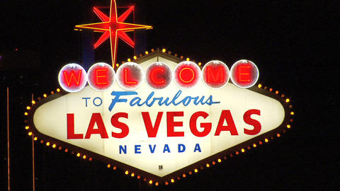 Las Vegas Sign Close 1 stock footage