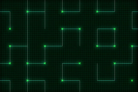 Green Grid Zoom(L) stock footage