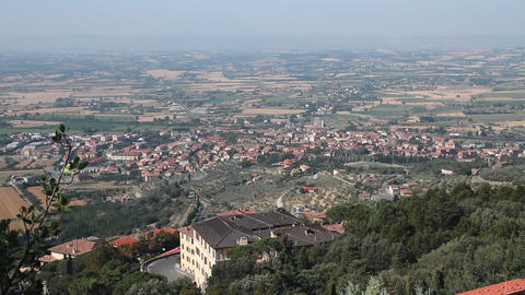 View Of The Italian Countryside stock footage