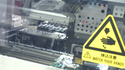 Robotic Machine Doing Motherboard stock footage