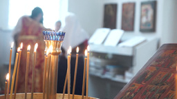 Liturgy In The Orthodox Christian Church stock footage