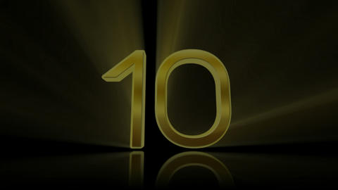 Countdown, count down. 10 to 0. Golden Animation