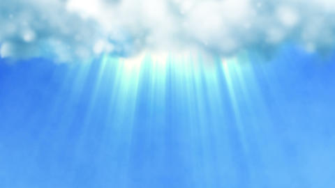 Blue Sky With A Divine Light Shining From The Clouds stock footage
