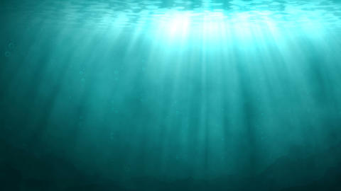 Blue Underwater Scene With Rays Of Sunlight stock footage