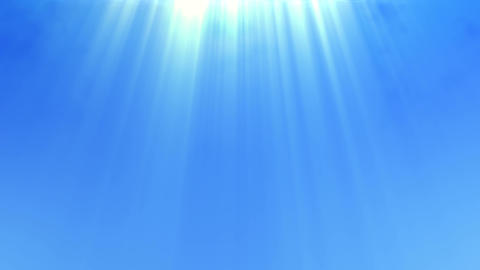 Blue Sky With A Divine Light Shining From Above stock footage