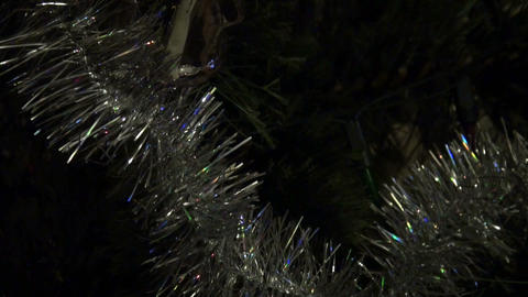 Christmas Tree Garland, Toy stock footage