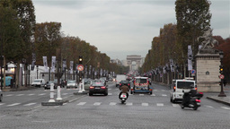 Paris Traffic Arch Of Triumph France stock footage