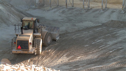 Heavy Building Bulldozer in a quarry Footage