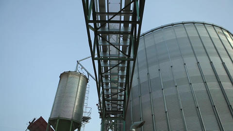 Granary Grain Elevators stock footage